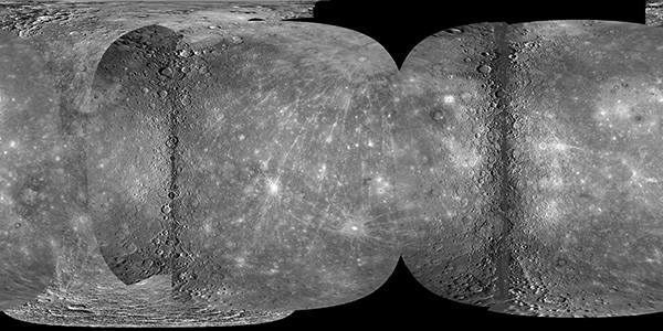 Mercury global mosaic using flyby MESSENGER data
