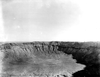 Meteor Crater, Arizona. Crater, viewed from the rim. Photo taken by G. K. Gilbert, 1891.