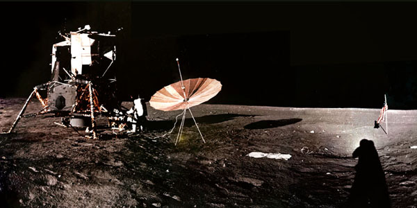Apollo 12 color panorama collected by Charles Conrad