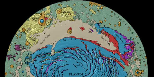 Geologic Map of Mars North Pole
